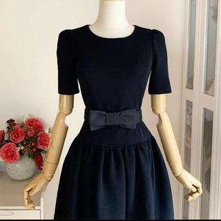 M'S GRACY - 美品 エムズグレイシー  バルーン裾フレアワンピース ベルト付き
