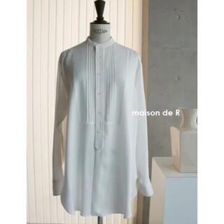 ドゥーズィエムクラス(DEUXIEME CLASSE)のanan様専用出品♡maison de r レーヨンロングシャツ ホワイト(シャツ/ブラウス(長袖/七分))