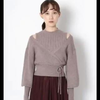 Lily Brown - レイヤードニットトップス