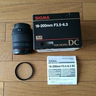 SIGMA ズームレンズ 18-200mm F3.5-6.3