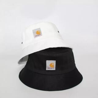 カーハート(carhartt)の【新品未使用】Carhartt バケットハット 帽子 ブラック×ホワイト(ハット)