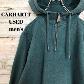 carhartt - US古着 CARHARTT メンズ パーカー ハーフジップ 刺繍 アノラック L