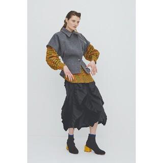 ENFOLD - 新品 ENFOLD ラッフル プリーツスカート コレクションライン