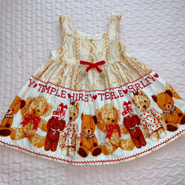 Shirley Temple(シャーリーテンプル)のシャーリーテンプル くま JSK キッズ/ベビー/マタニティのキッズ服女の子用(90cm~)(ワンピース)の商品写真