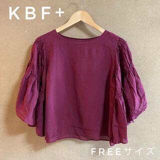 ケービーエフプラス(KBF+)のKBF+/ブラウス トップス カットソー/紫(カットソー(半袖/袖なし))