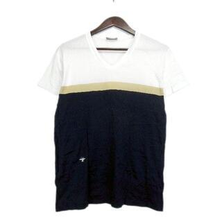DIOR HOMME - ディオールオムDior HOMME■BEE刺繍カラー切替VネックTシャツ