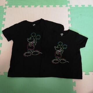 UNIQLO - UNIQLO キッズ Tシャツ 2枚お揃いTシャツ 130cm100cm