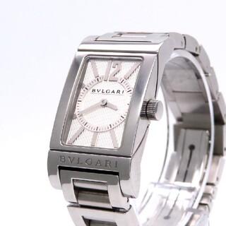 BVLGARI - 【BVLGARI】ブルガリ 時計 'レッタンゴロ' 新型モデル ホワイト☆美品☆