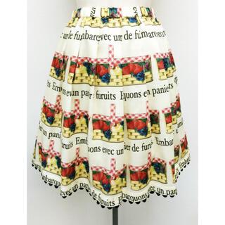 ルルゲッタ(Leur Getter)のルルゲッタ フルーツバスケットプリントスカート(ひざ丈ワンピース)