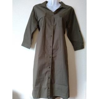 RyuRyu - カーキ色のシャツワンピースMサイズ*未使用品です