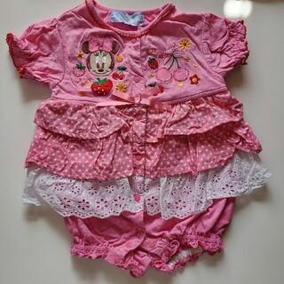 Disney - ミニーのフリルロンパース