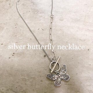 silver butterfly necklace(ネックレス)