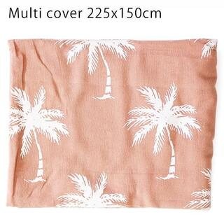パームツリー マルチカバー 150×225cm (ピンク) ヤシ柄 サーフ 海(ソファカバー)