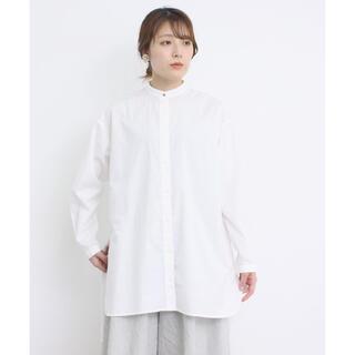 chambre de charme - シャンブルドゥシャーム JAMES 裾まる長丈シャツ