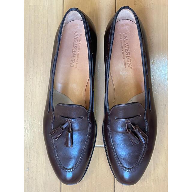 J.M. WESTON(ジェーエムウエストン)のJMウエストン タッセルローファー 173 10.5 B ボックスカーフ 美品 メンズの靴/シューズ(ドレス/ビジネス)の商品写真