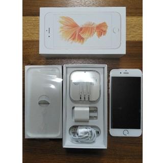 アイフォーン(iPhone)のiphone6s 128GB ピンクゴールド SIMロック解除済み(スマートフォン本体)