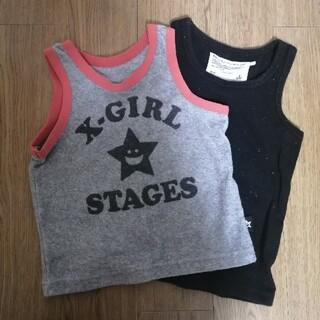 エックスガールステージス(X-girl Stages)のX-girl マーキーズ ノースリーブセット 90〜95(Tシャツ/カットソー)