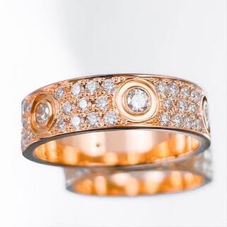 Cartier - 【仕上済】カルティエ ラブリング 14号 PG 54 ダイヤ  指輪 リング