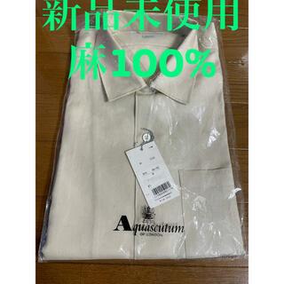 アクアスキュータム(AQUA SCUTUM)の新品Aquascutum 半袖 麻100% シャツ(シャツ)