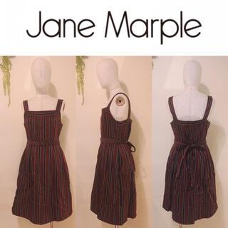 ジェーンマープル(JaneMarple)の 【JaneMarple】レジメンタルストライプ柄JSK ワンピース(ひざ丈ワンピース)
