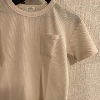 UNIQLO - 韓国服★ワッフルtシャツ  白オフホワイト 130小さめ