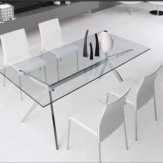 カッシーナ(Cassina)の関東送料込み カリガリス ガラス ダイニングテーブル(ダイニングテーブル)
