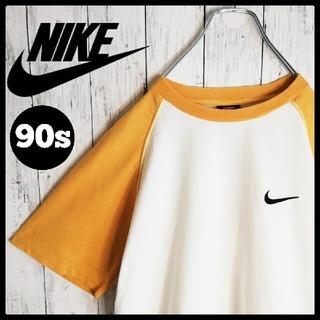 ナイキ(NIKE)の【90s 古着】NIKE 刺繍ワンポイント ラグラン クルーネックTシャツ(Tシャツ/カットソー(半袖/袖なし))