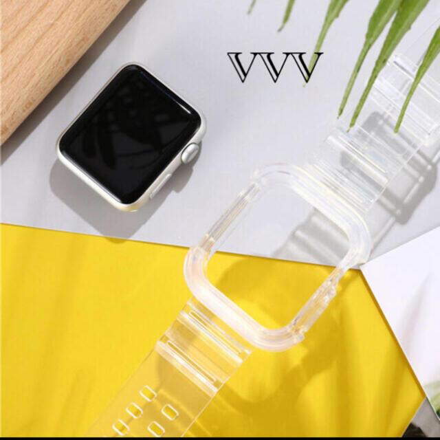 Apple Watch(アップルウォッチ)のApple Watch クリアバンド 42mm/44mm メンズの時計(ラバーベルト)の商品写真