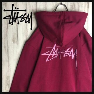 STUSSY - 【即完売モデル】 STUSSY 刺繍ロゴ 超希少カラー バックロゴ パーカー