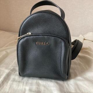 フルラ(Furla)の美品 フルラ FURLA  ミニリュック バッグ 黒 ブラック(リュック/バックパック)