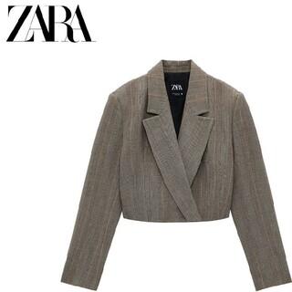 ZARA - 【S】 ZARA クロップド丈ブレザー クロップド丈ジャケット