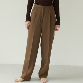 TODAYFUL - pique tuck trousers ピケタック トラウザーズ ワイドパンツ