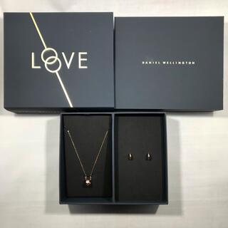 Daniel Wellington - ELAN Necklace & Earrings Rose Gold セット