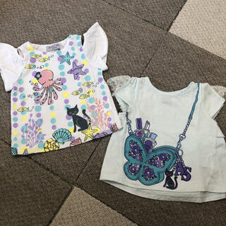 アナスイミニ(ANNA SUI mini)の【anna sui mini】半袖Tシャツ×2 80(Tシャツ/カットソー)