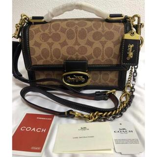 COACH - 数量限定正規品 COACH コーチ カーキブラックショルダーバッグ ハンドバッグ
