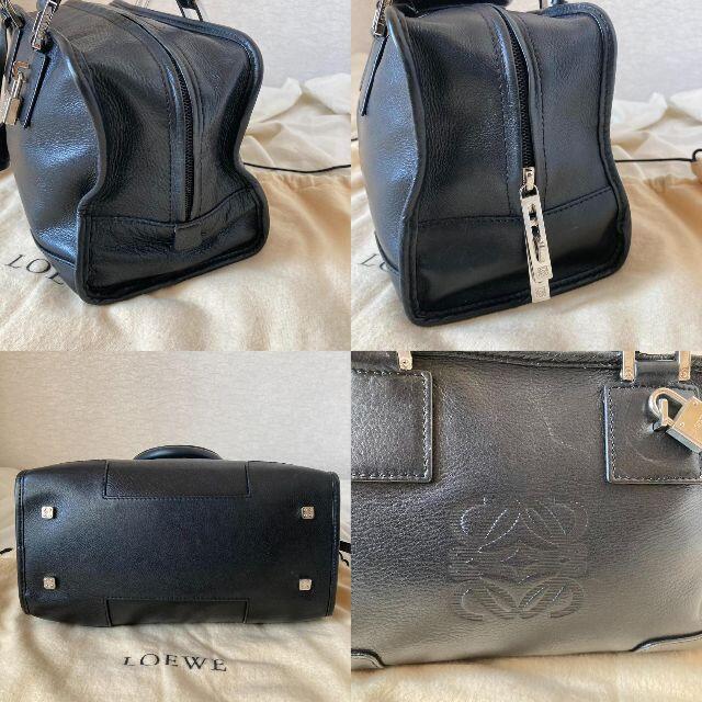 LOEWE(ロエベ)の美品 ロエベ LOEWE アマソナ28 ブラック 黒 レザー ハンドバッグ レディースのバッグ(ハンドバッグ)の商品写真