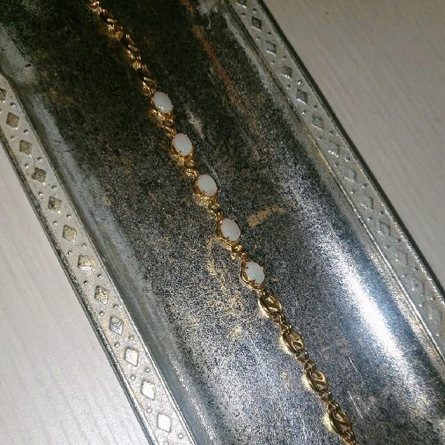 agete(アガット)の最終値下げ オパール 5石 アンティーク クラシカル レトロ ブレスレット レディースのアクセサリー(ブレスレット/バングル)の商品写真