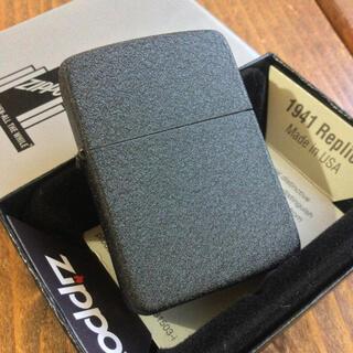 ジッポー(ZIPPO)の新品 Zippo 純正 1941レプリカ ブラッククラックル(タバコグッズ)