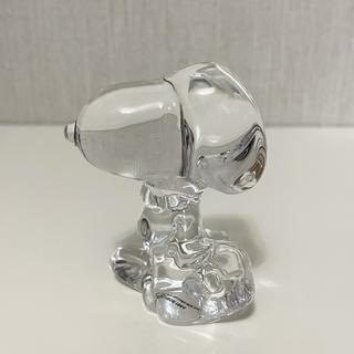 SNOOPY - スヌーピー ガラスオブジェ 置物