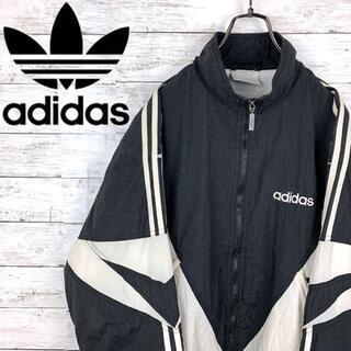adidas - 希少 90s アディダス adidas ナイロンジャケット 刺繍ロゴ