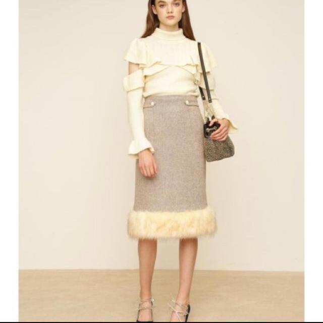 Lily Brown(リリーブラウン)のLily brown ファースカート レディースのスカート(ロングスカート)の商品写真