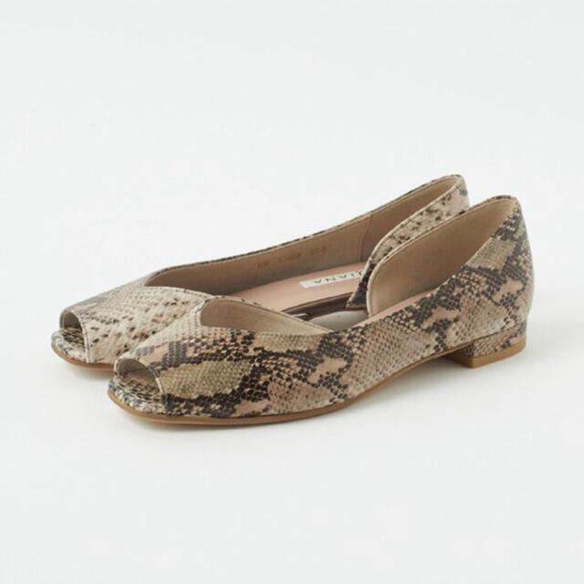 DIANA(ダイアナ)の【未使用品】DIANA フラットオープントゥパンプス〈22cm〉 レディースの靴/シューズ(ハイヒール/パンプス)の商品写真