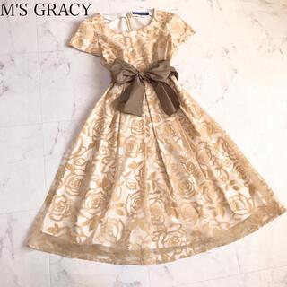 M'S GRACY - エムズグレイシー   薔薇柄ワンピース
