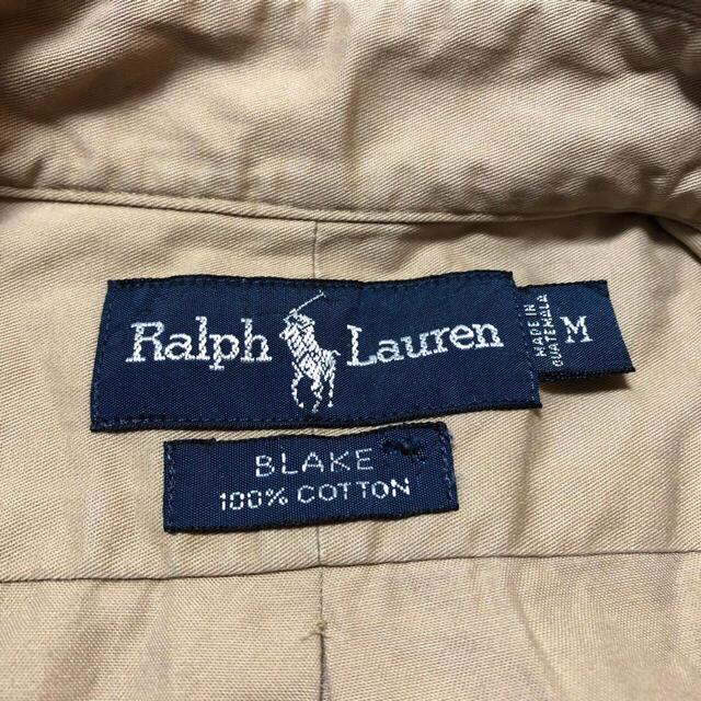 Ralph Lauren(ラルフローレン)の【ラルフローレン】ワンポイント刺繍ロゴチノボタンダウンシャツ 90s メンズのトップス(シャツ)の商品写真