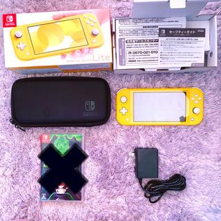 ニンテンドースイッチ(Nintendo Switch)のSwitch Lite⭐︎本体⭐︎yellow⭐︎ルイージマンション3付き(携帯用ゲーム機本体)