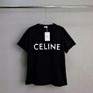 人気 CELINE セリーヌ 20SS フロントロゴ コットン 半袖Tシャツ
