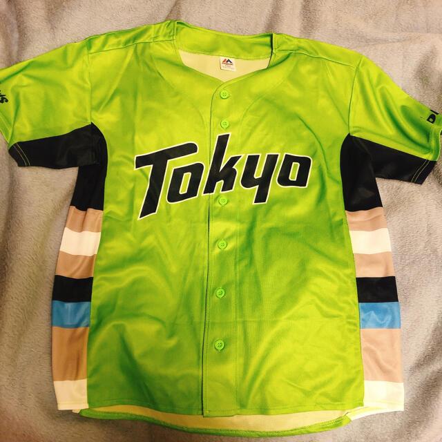 東京ヤクルトスワローズ(トウキョウヤクルトスワローズ)の東京ヤクルトスワローズ 緑ユニフォーム 2021 スポーツ/アウトドアの野球(ウェア)の商品写真