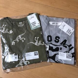 エイチアンドエム(H&M)の新品★ 恐竜 半袖シャツ 2枚 120/130サイズ(Tシャツ/カットソー)