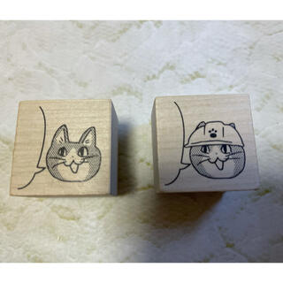 〈仕事猫〉ラバースタンプ2個セット