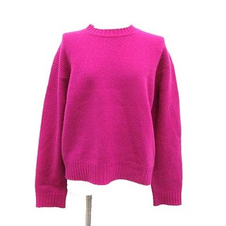 Drawer - ドゥロワー Drawer ニット セーター カシミヤ クルーネック 1 S 紫